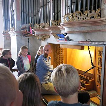 Orgelbau in Klasse 4
